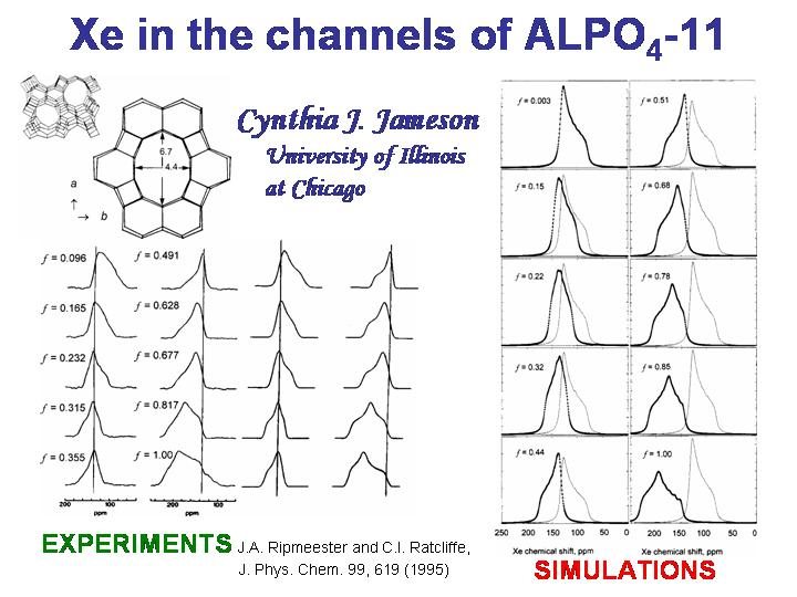 Xe in the channels of ALPO4-11