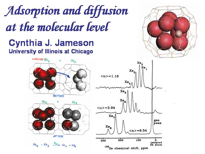 Adsorption and diffusion at the molecular level