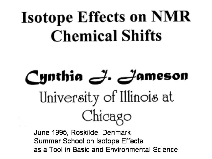 Isotope effects on NMR chemical shifts