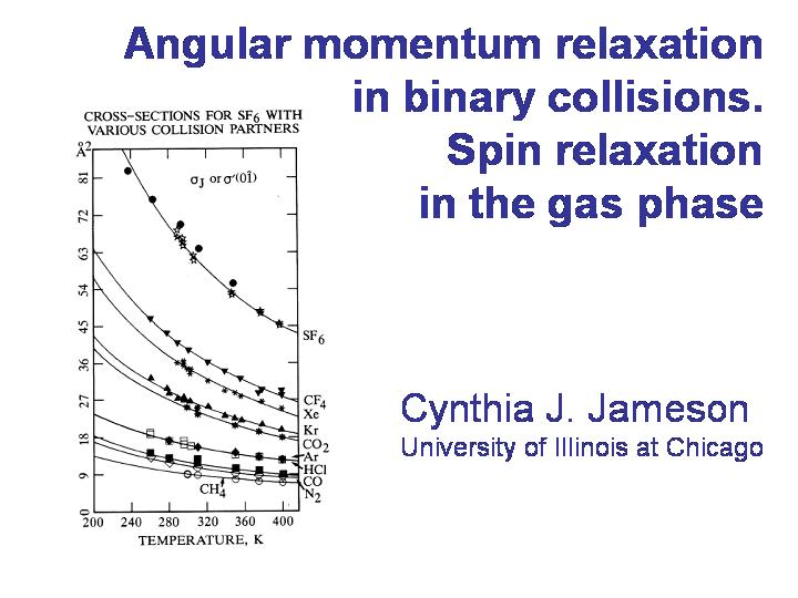 Spin relaxation in the gas phase